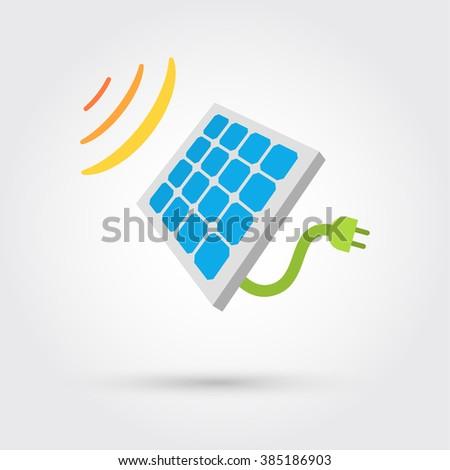 Solar Cell Panel. Energy - stock photo