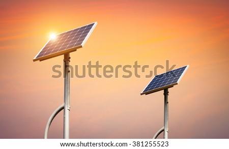 Solar Cell , Solar energy , Clean energy  - stock photo