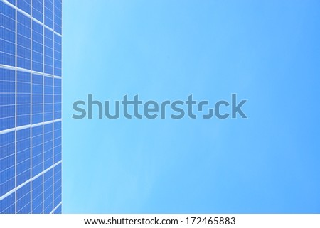 Solar-cells on a roof - stock photo