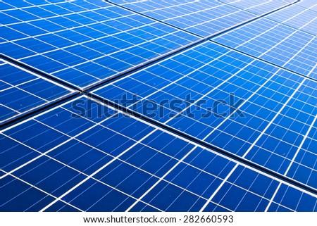 solar cells panel - stock photo
