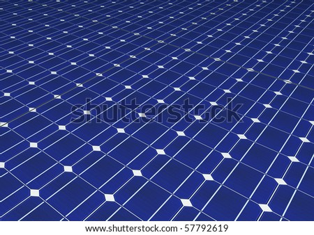 Solar cells panel seamless computer generated pattern - stock photo