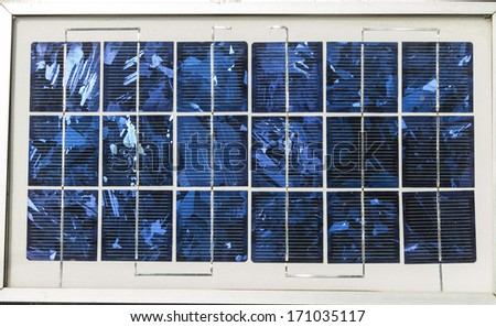 Solar cells were installed on the home. - stock photo