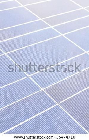 solar energy boards - stock photo