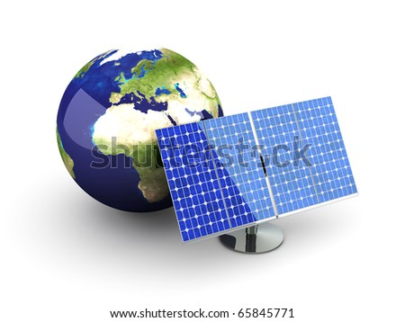 Solar Energy - Europe - stock photo