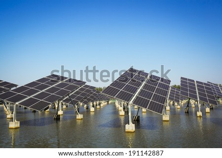 Solar energy for sustainable development - stock photo