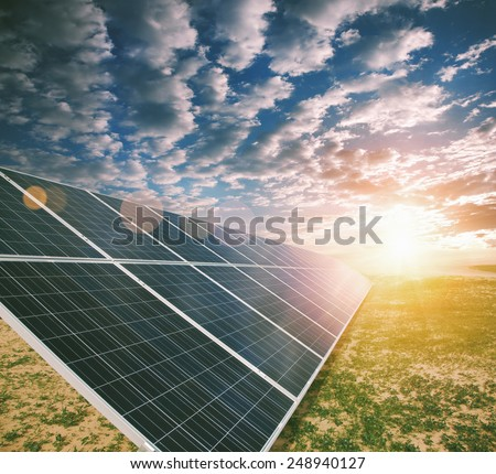 Solar energy panels - stock photo