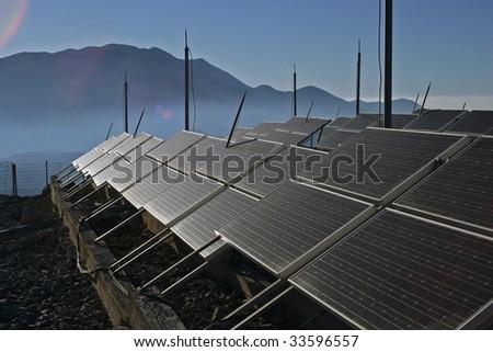 solar energy panels - stock photo