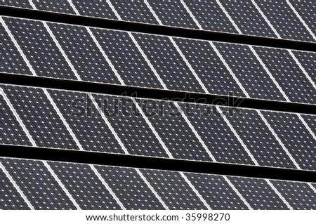 solar energy panels with photovoltaic cells - stock photo