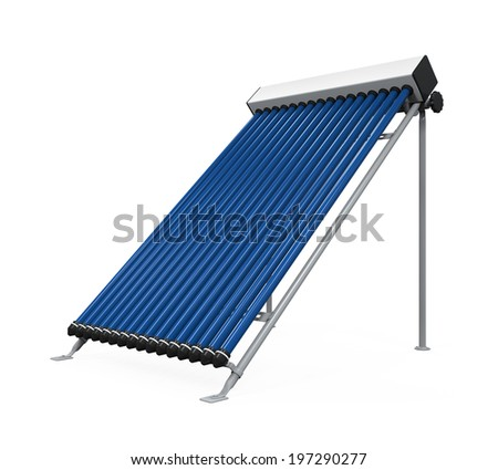 Solar Heat Pipe Collector - stock photo