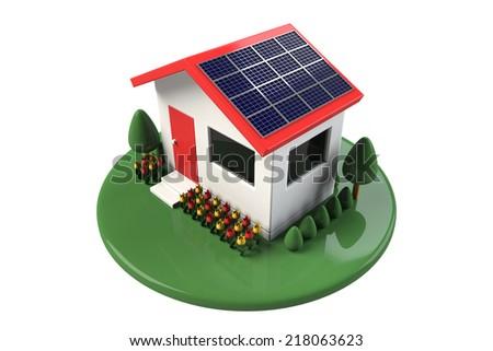 Solar home - stock photo