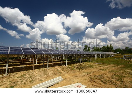 solar on the nature - stock photo