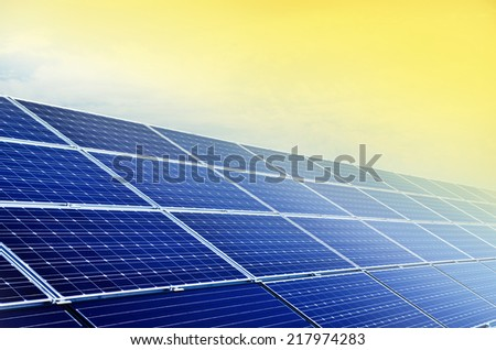 solar panel and renewable energy  - stock photo