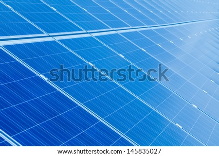 Solar panel detail abstract - renewable energy source. - stock photo