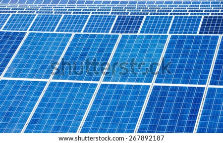 Solar panel detail abstract - renewable energy source - stock photo