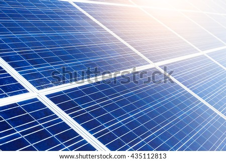 Solar panel in blue  - stock photo