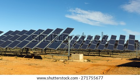 Solar panel system. Energy production  - stock photo