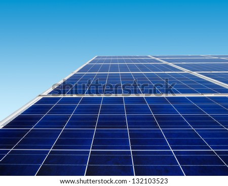 Solar panels are continuing to be the main source of renewable energy across the globe - stock photo