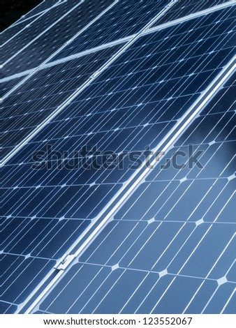 Solar panels close up - stock photo