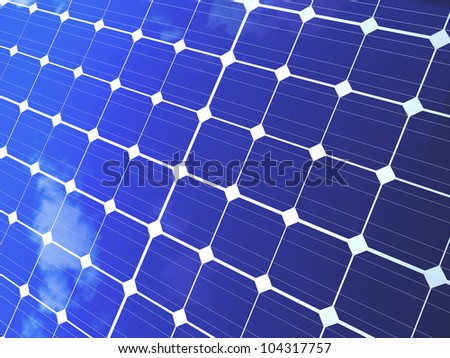 Solar panels for alternative and ecological energy background. - stock photo