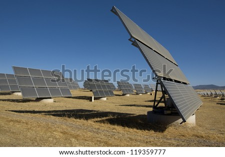 Solar Photovoltaic Panels - stock photo
