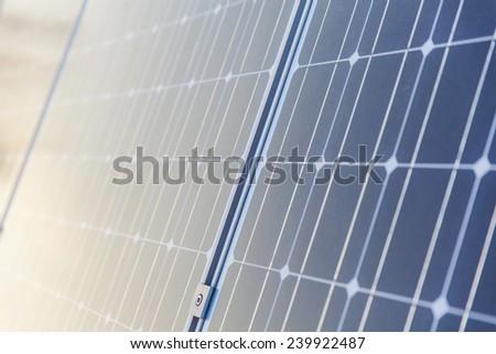 Solar plates  - stock photo