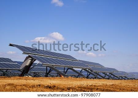 Solar plates. - stock photo