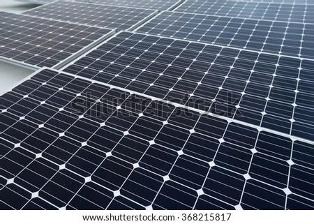 Solar power energy plant - stock photo
