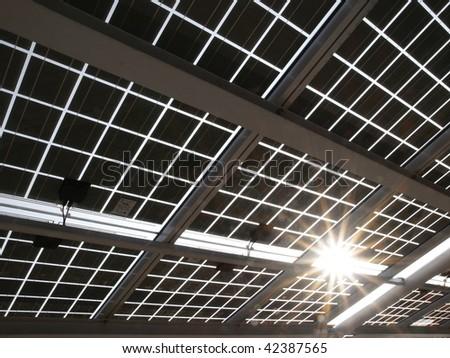 Solar power panel - stock photo