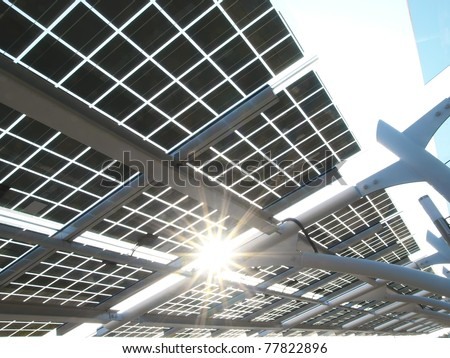Solar power panel - stock photo