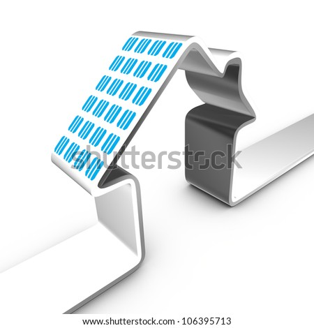 Solar power system mounted on a house's roof - stock photo