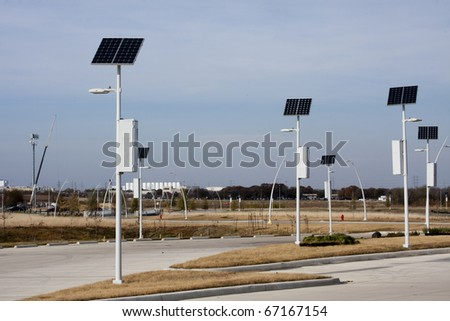 Solar powered lights - stock photo