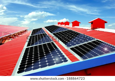 Solar Roofs - stock photo