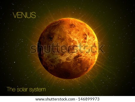Solar System - Planet Venus. Elements of this image furnished by NASA - stock photo
