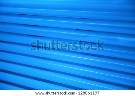 Solarium  lamps close up - stock photo
