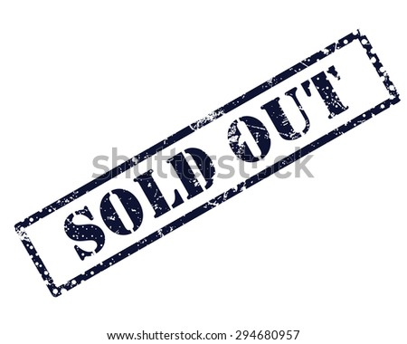 Sold out stamp - stock photo