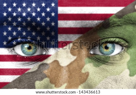 Soldier from Uinted States of America - stock photo