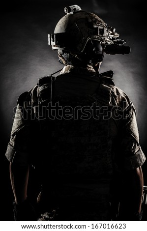 soldier man back fashion  - stock photo