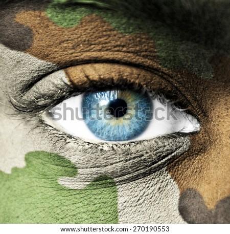 Soldier portrait - stock photo