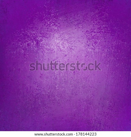 solid purple background wall paint with detailed vintage grunge background texture stain, luxury web background layout design, purple pink brochure paper with light spot center and darker border color - stock photo