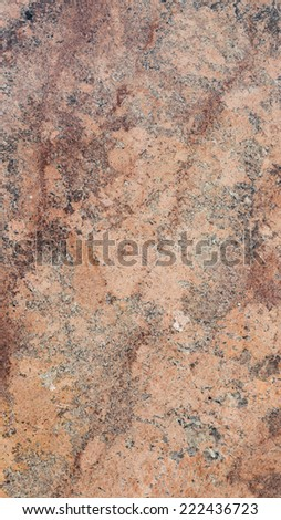 solid smooth beige marble with brown burgundy stripes and gray spots - stock photo