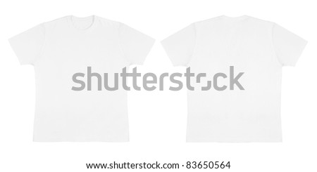 Solid White Knit T Shirt Off Body Flat - stock photo