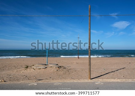 solitary beach in Sicily, Italy, Europe - stock photo