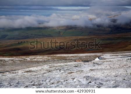 solitary cottage Cumbria England - stock photo