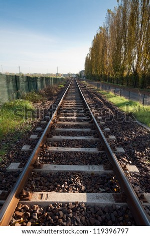 solitary track - stock photo