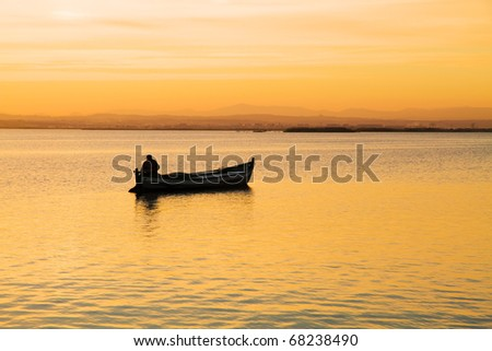 solitude in the water - stock photo