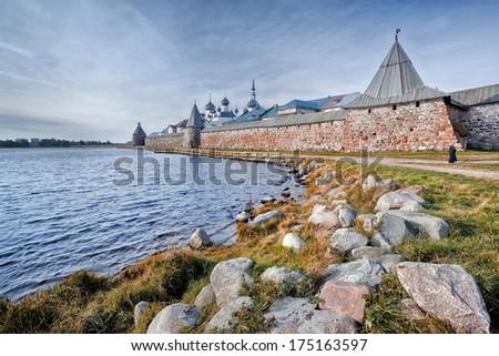 Solovetsky Islands (Solovki). Solovetsky (Spaso-Preobrazhensky) monastery, Russia - stock photo