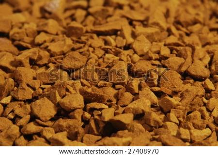 soluble coffee closeup - macro - stock photo