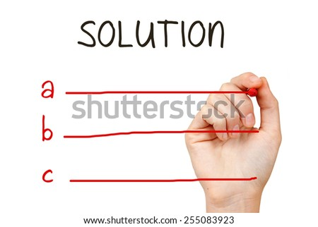 Solution business concept - stock photo