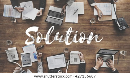 Solution Decision Discovery Improvement Solve Concept - stock photo