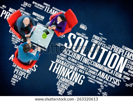 Solution Success Sloved Decision Strategic Progress Concept - stock photo